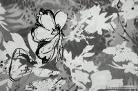 Rostlinný motiv + motýl