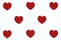 Červená srdíčka › Bavlna ‹